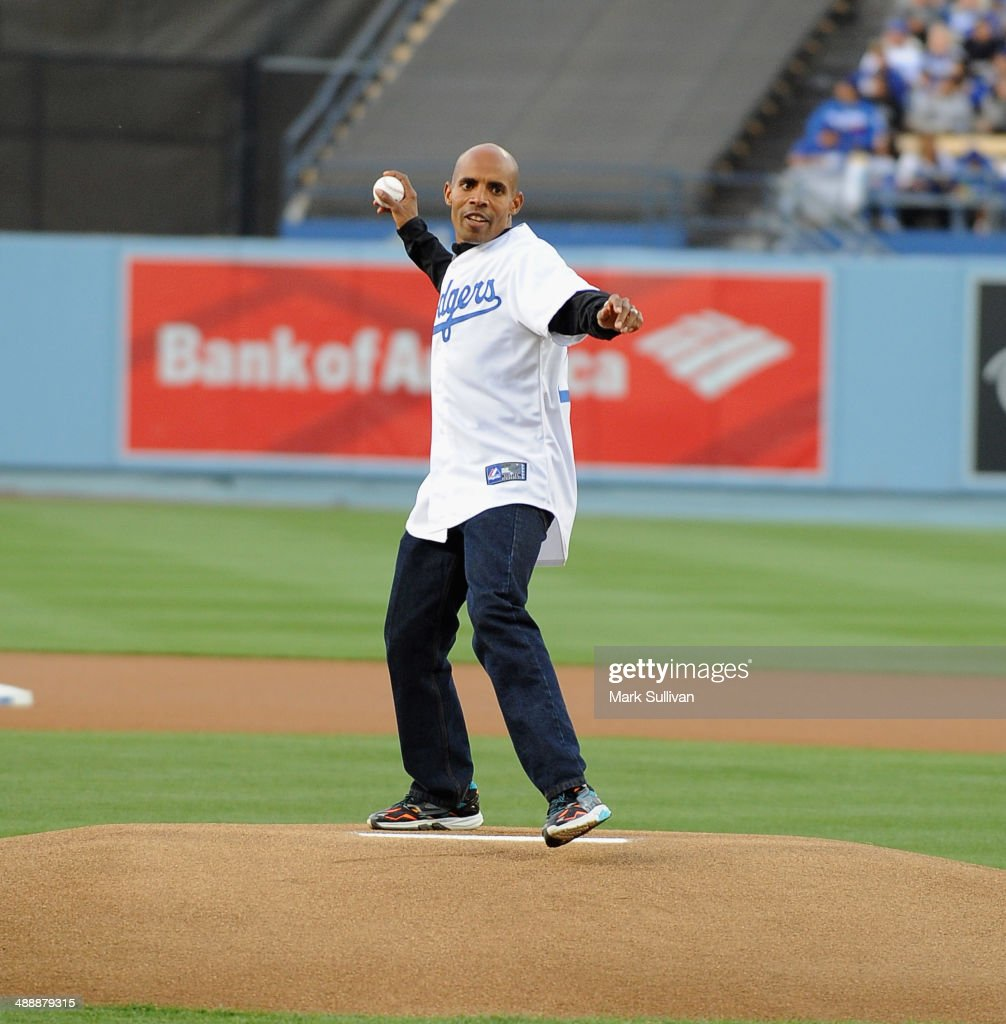 Celebrity Appearances At L.A. Dodgers Game - May 8, 2014 : ニュース写真
