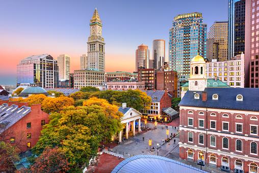 Boston, Massachusetts, USA Downtown Skyline 1197169586
