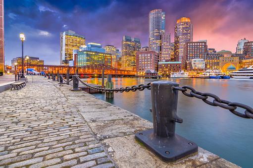Boston, Massachusetts, USA Harbor and Skyline 967126940