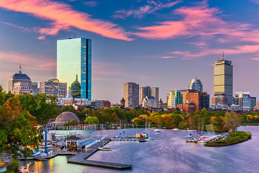 Boston, Massachusetts, USA River Skyline 1004244128