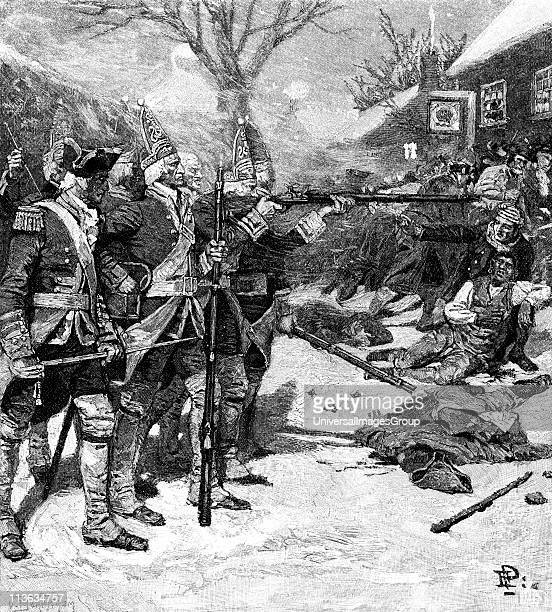 Boston Massacre 5 March 1770 Skirmish between British troops and crowd in Boston Massachusetts Five protesters killed the first being Crispus Attucks...
