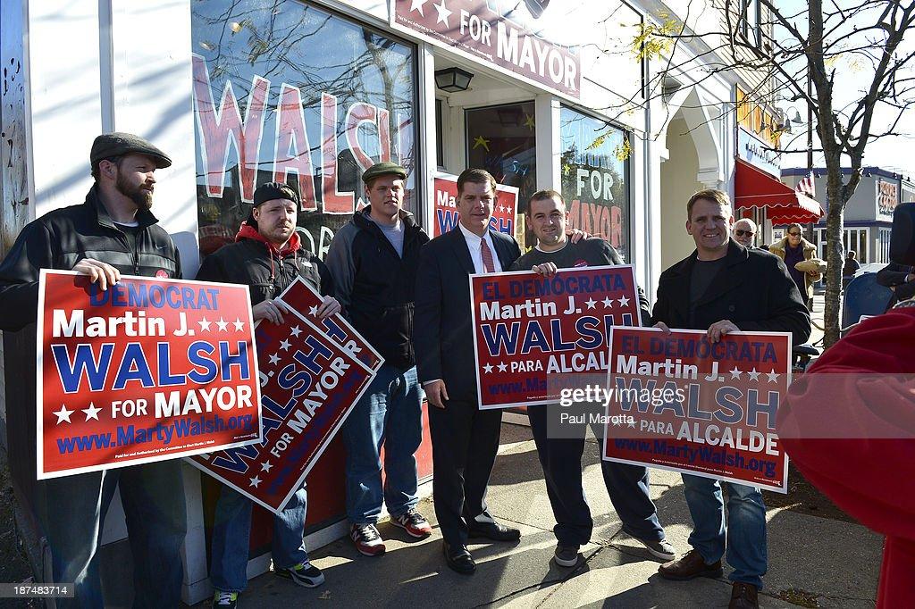2013 Boston Mayoral Race Candidate Marty Walsh : News Photo