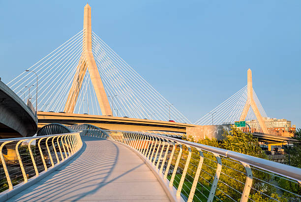 Boston - North Bank Walkway and Zakim Bridge