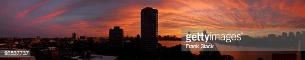 boston panorama - cambridge massachusetts stock pictures, royalty-free photos & images