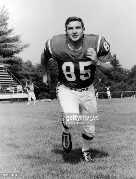 Boston Patriots player Nick Buoniconti warms up at practice in Andover Mass on July 25 1967