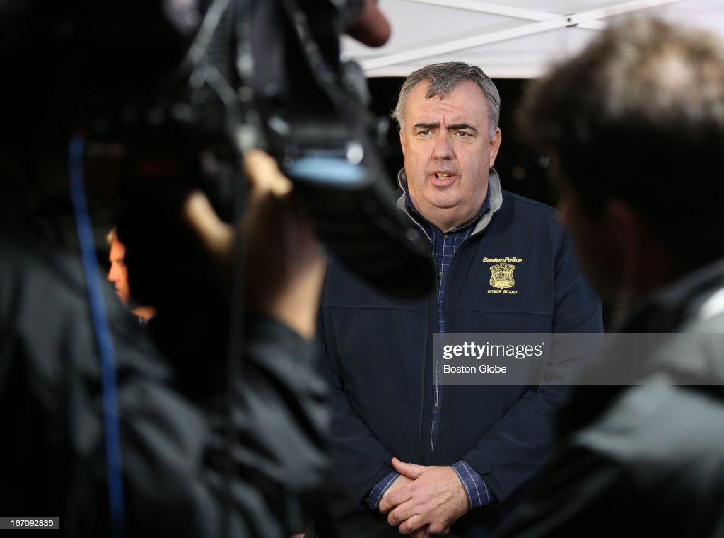 Boston Police Commissioner Ed Davis talks about the operation during interview. After an intense manhunt and two-hour standoff in Watertown, law enforcement took a person into custody believed to be related to the Boston Marathon bombings.