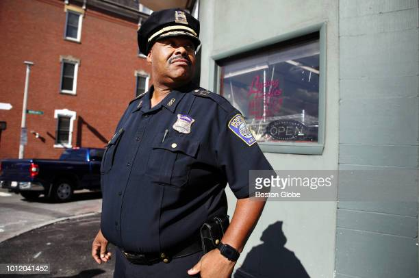 Boston Police SuperintendentinChief William G Gross walks through the neighborhood of Roxbury while on his last peace walk before he his sworn in as...