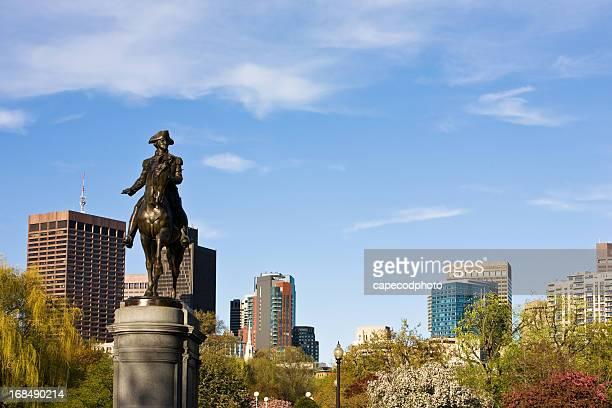 Boston Public Garden and Skyline