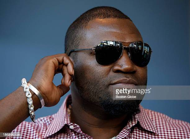 Boston Red Sox David Ortiz is seen after having had his beard shaved off at Gillette World Shaving Headquarters in Boston on November 4 2013 Gillette...