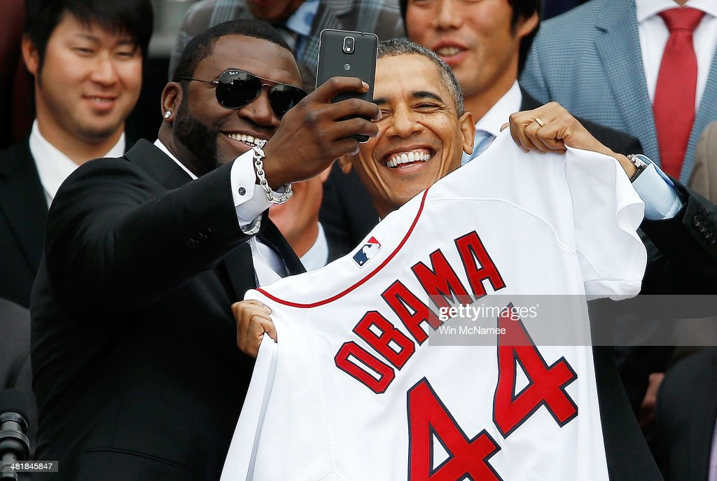Obama Welcomes World Series Champions Boston Red Sox To The White House : News Photo