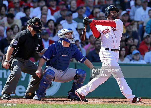 Boston Red Sox left fielder Jackie Bradley Jr jacks a three run homer in the second inning The Boston Red Sox host the Toronto Blue Jays in game...