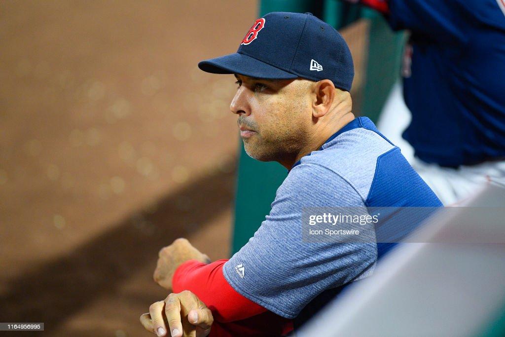 MLB: AUG 30 Red Sox at Angels : News Photo