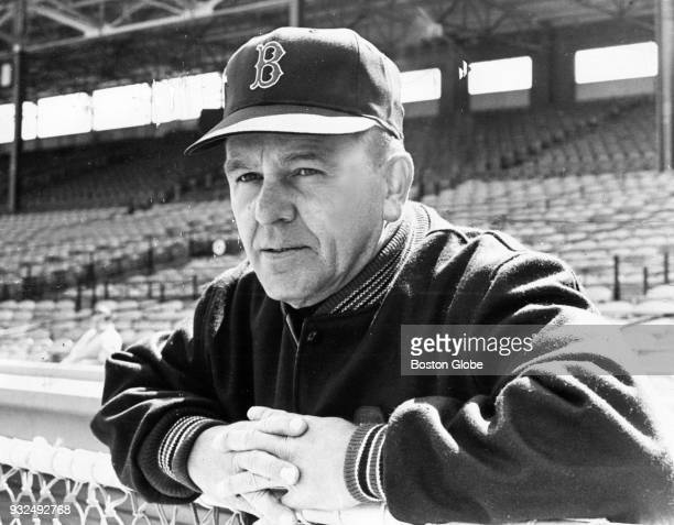 Boston Red Sox manager Dick Williams stands in the dugout at Fenway Park in Boston on April 12 1967