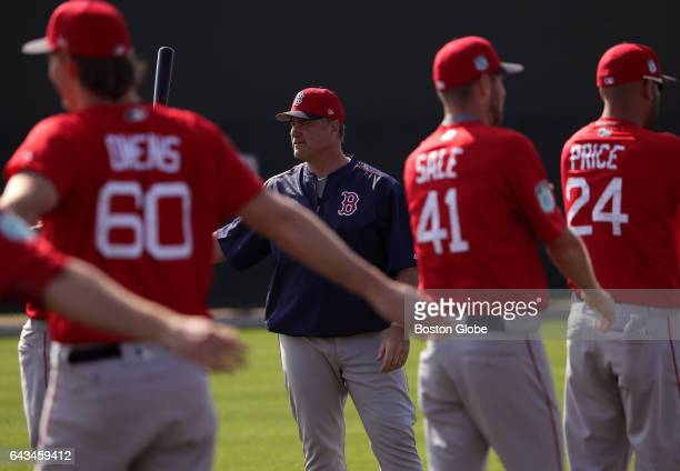 Boston Red Sox manager John Farrell is pictured during day six of Red Sox Spring Training at Jet Blue Park in Fort Myers FL on Feb 18 2017