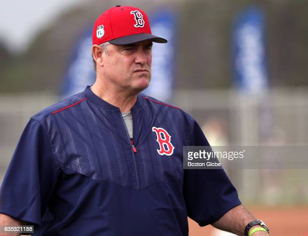 Boston Red Sox manager John Farrell is pictured during training exercises Pitchers and catchers have their first workout during day two of spring...