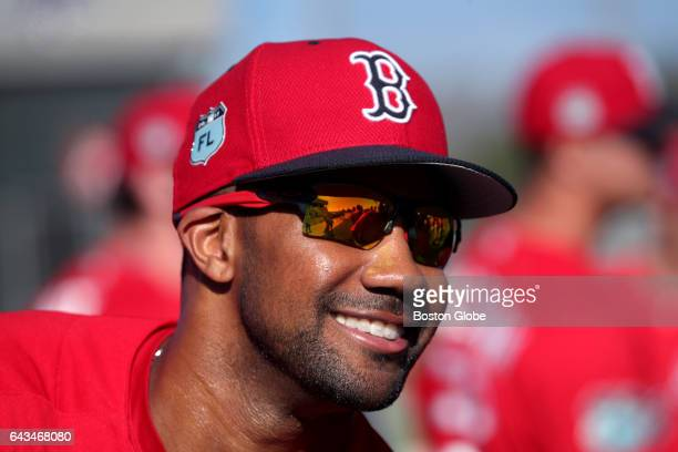 Boston Red Sox outfielder Chris Young is pictured on day eight of Red Sox Spring Training at Jet Blue Park in Fort Myers FL on Feb 20 2017