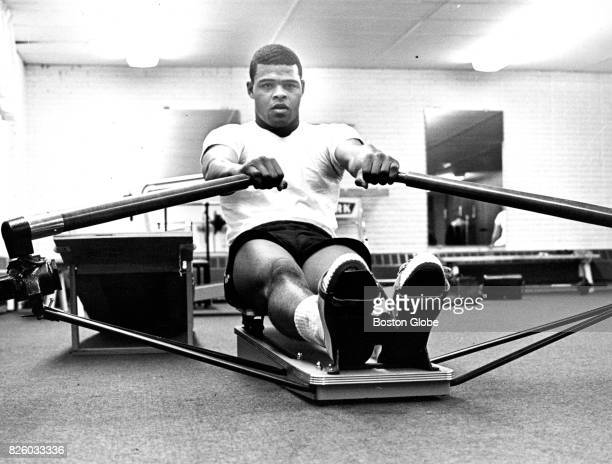 Boston Red Sox outfielder Reggie Smith works out at the Brook Meadow Country Club in Canton MA on Dec 21 1967