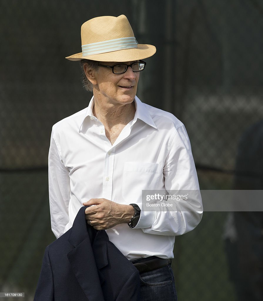 Boston Red Sox owner John Henry watches his team practice. Day two of spring training at the Red Sox training facilities at JetBlue Park on Wednesday, Feb. 13, 2013.