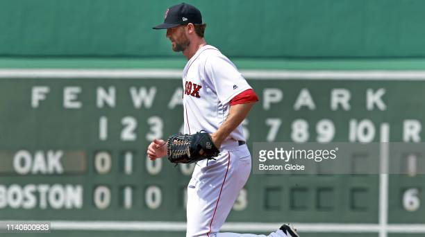 Boston Red Sox pitcher Colten Brewer jogs in from the bullpen to pitch the top of the seventh inning The Boston Red Sox host the Oakland Athletics in...