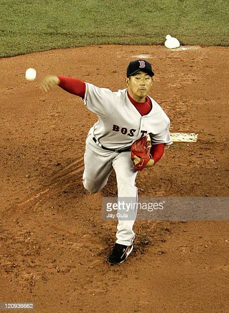 Boston Red Sox pitcher Daisuke Matsuzaka pitching in MLB action vs the Toronto Blue Jays at Rogers Centre in Toronto Canada on April 17 2007