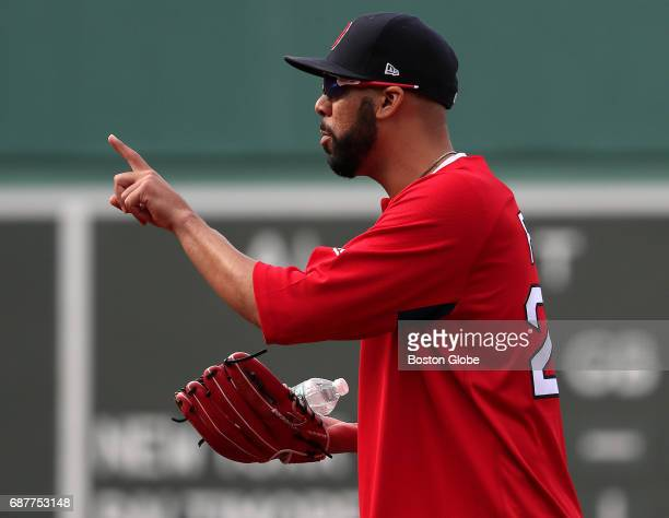 Boston Red Sox pitcher David Price is pictured on the infield before the game The Red Sox are hoping Price will return to full health and be...