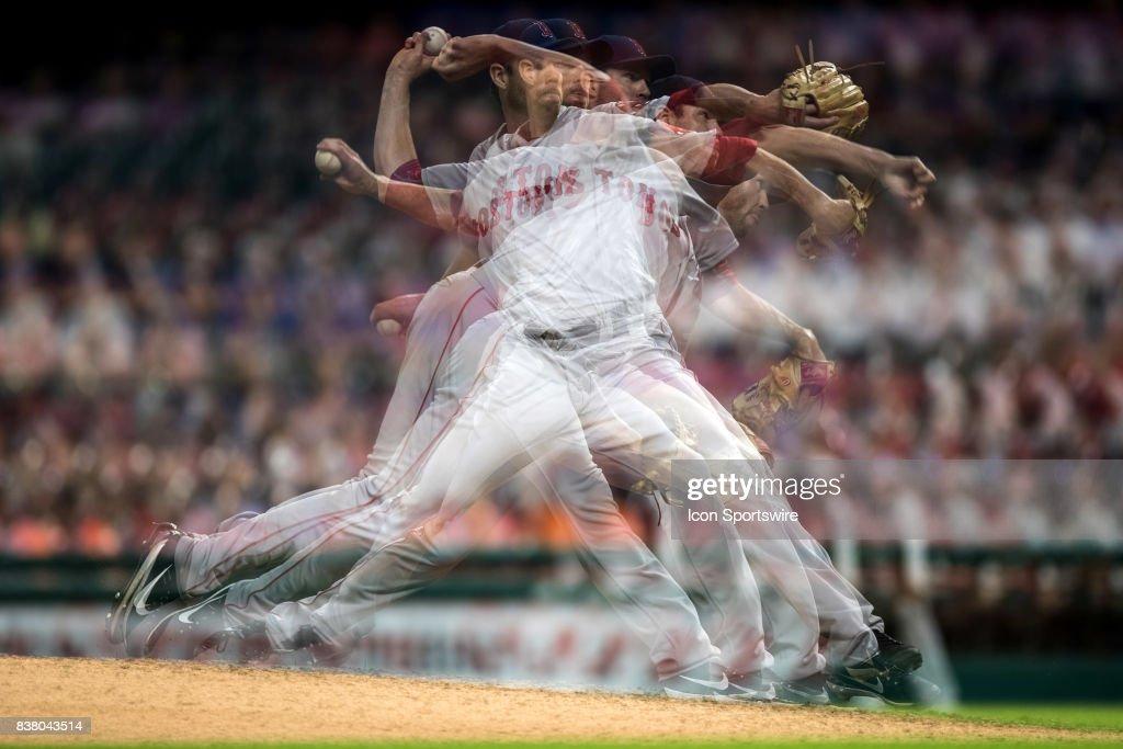 MLB: AUG 22 Red Sox at Indians
