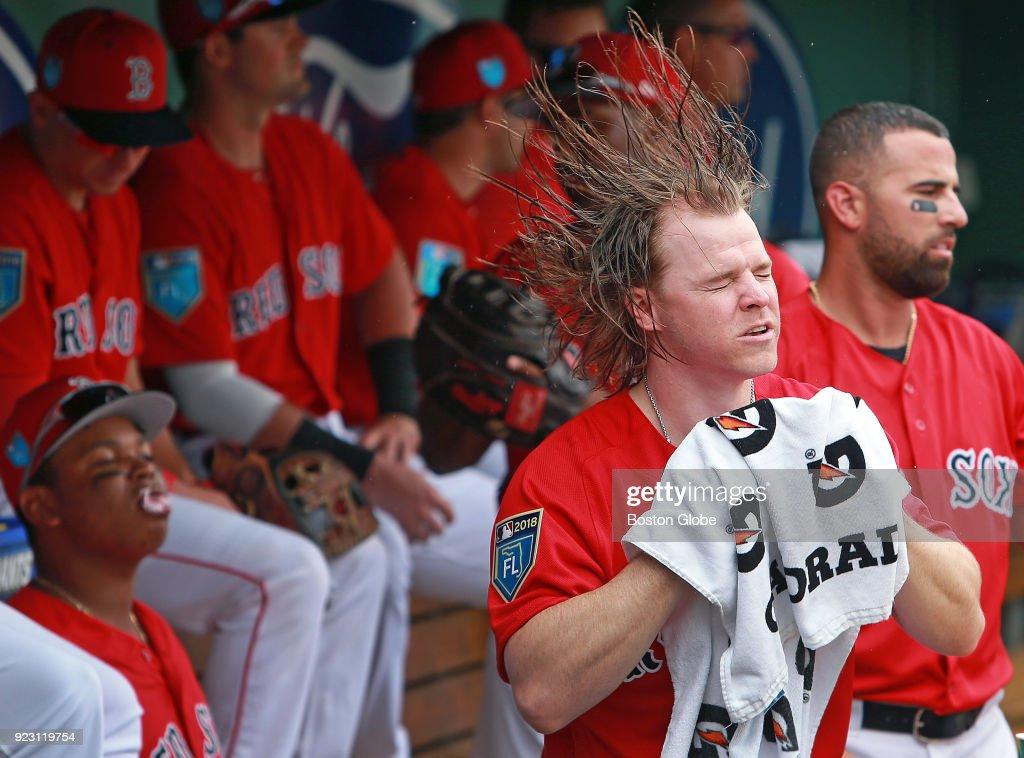 Brock Holt Boston Red Sox Spring Training Baseball Player Jersey