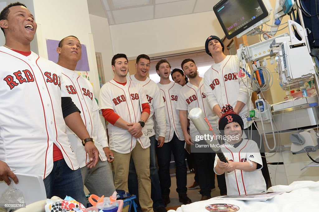 Red Sox Rookies Visit Boston Children's Hospital : News Photo