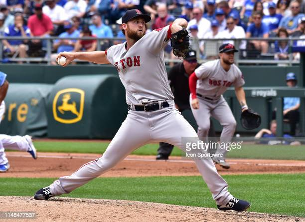 Boston Red Sox relief pitcher Colten Brewer pitches during a Major League Baseball Game between the Boston Redsox and the Kansas City Royals on June...