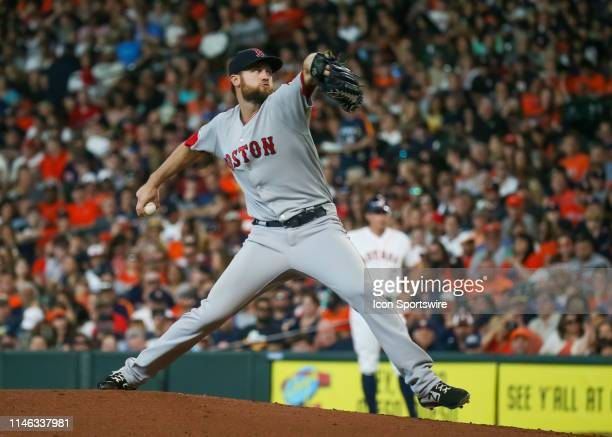 Boston Red Sox relief pitcher Colten Brewer prepares to throw a pitch during the game between the Boston Red Sox and Houston Astros on May 25 2019 at...