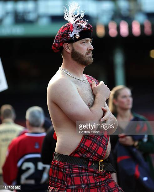 Boston Red Sox relief pitcher Steven Wright was wearing this outfit as he and the team prepared to take their last road trip of the regular season...
