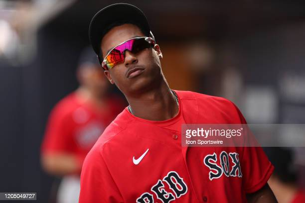 Boston Red Sox shortstop Jeter Downs during the MLB Spring Training game between the Boston Red Sox and New York Yankees on March 03 2020 at George M...