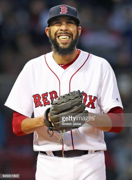 Boston Red Sox starting pitcher David Price reacts after giving up a first inning home run The Boston Red Sox host the New York Yankees in a regular...