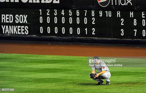 Boston Red Sox vs New York Yankees at Yankee Stadium Writing is on wall for JD Drew and Bosox as Mark Teixeira eighthinning homer puts Yanks ahead to...
