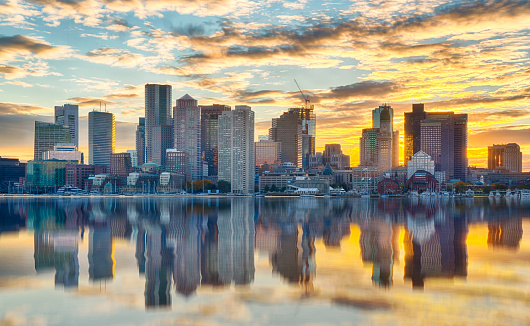 Boston Skyline at Sunset 1097577734