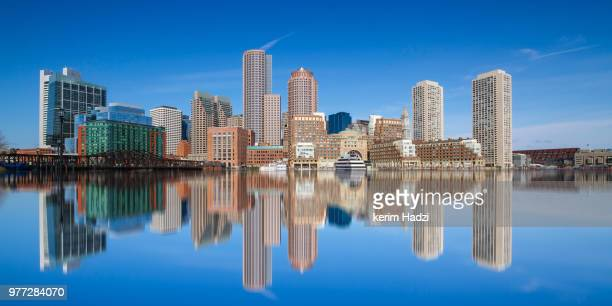 boston skyline, boston, massachusetts, usa - boston stock pictures, royalty-free photos & images