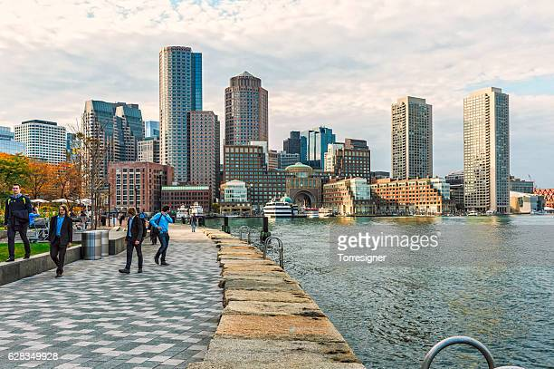 Boston Skyline - Harbor and Financial District