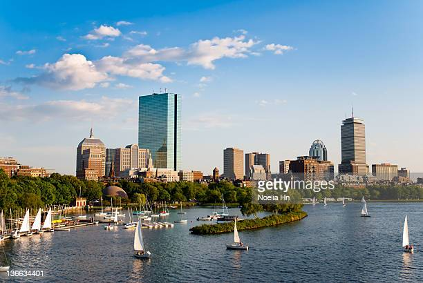 boston skyline - boston stock pictures, royalty-free photos & images