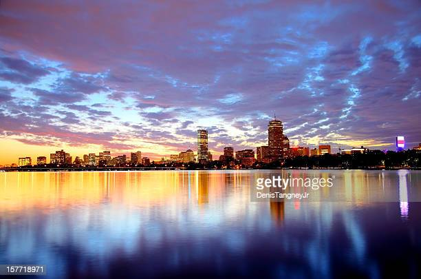boston skyline - boston massachusetts stock pictures, royalty-free photos & images