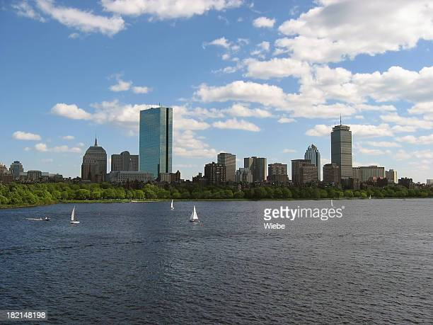 Boston Skyline with Sail Boats