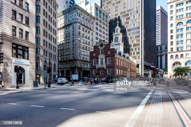 boston streetview - copley square stock-fotos und bilder