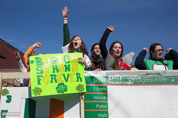 Boston Strong Forever Sign St Patricks Day Parade South Boston Massachusetts