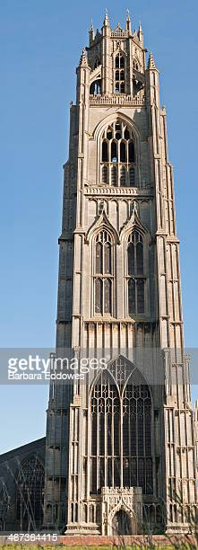 boston stump - vertical panorama - boston lincolnshire stock photos and pictures