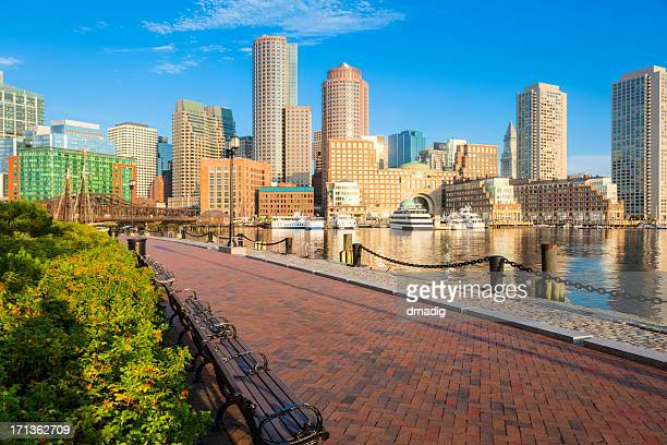 Boston Sunrise and Peaceful Setting along Fan Pier