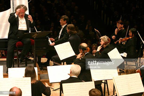 Boston Symphony Orchestra performing at Carnegie Hall on Monday night March 28 2005This imageJames Levine conducting Boston Symphony Orchestra in...