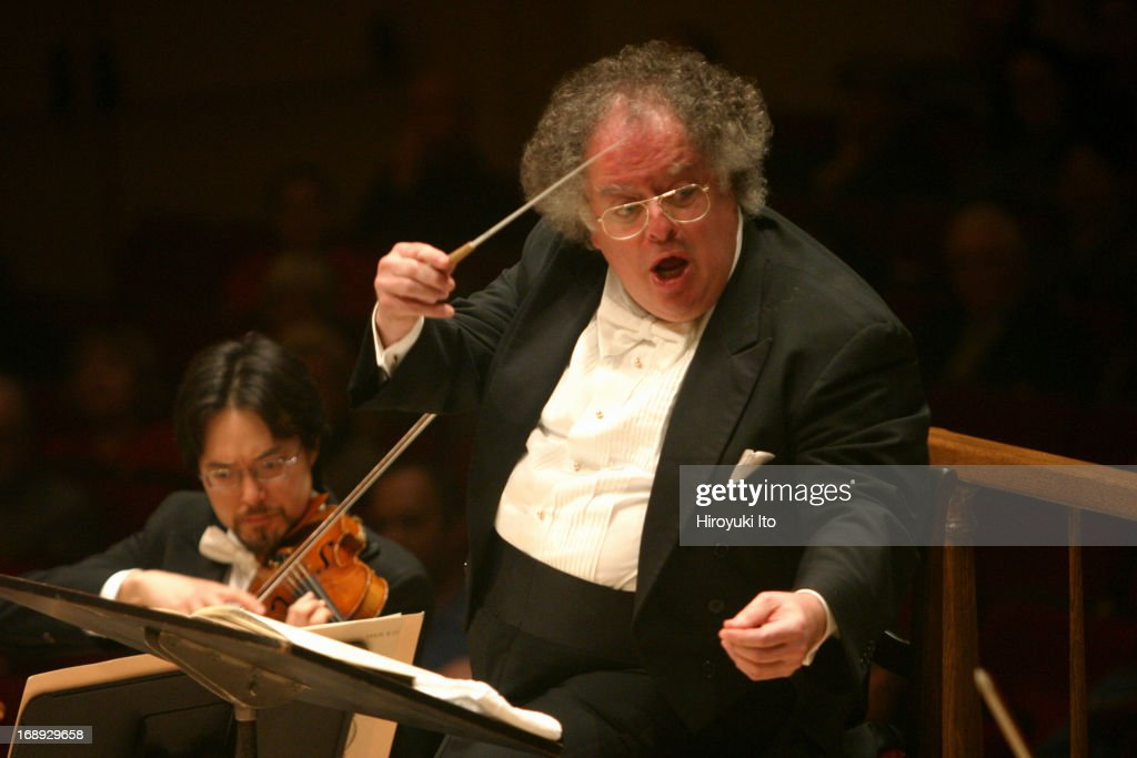Boston Symphony Orchestra performing at Carnegie Hall on Monday night, March 28, 2005.This image:James Levine conducting Boston Symphony Orchestra in Brahms's 'Symphony No.2 in D Major.'