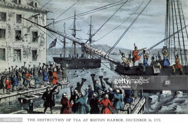 Boston Tea Party Boston Harbor 1773
