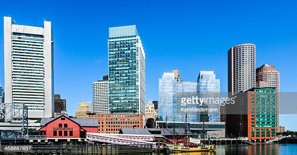 boston tea party ships and museum - boston tea party stock photos and pictures