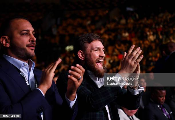 Boston United States 20 October 2018 UFC fighter Conor McGregor in attendance at the WBA IBF Female Lightweight World title bout between Katie Taylor...
