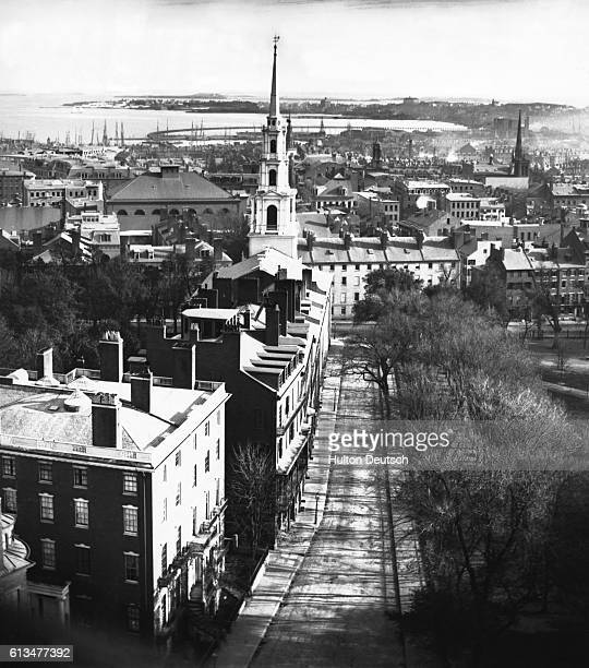 Boston US from the State House looking southwest By William England LSC d 1896 The chief photographer of the London Stereoscopic Company In the...